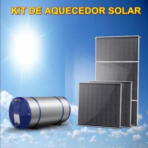 Aquecedor Solar 300Lts + 3 coletores 1,0x1,0