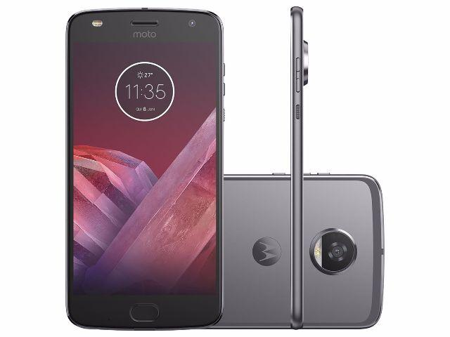 Smartphone Motorola Moto Z2 Play 64GB Platinum - Dual Chip 4G Câm. 12MP + Selfie 5MP Tela