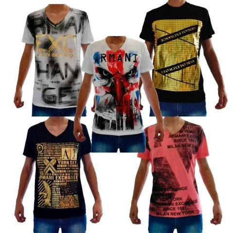7754181f7 Camiseta Armani importada Atacado - Kit 10 camisa masculina - Somos  Fornecedor Roupa Marca