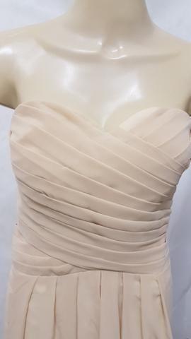 Novo: vestido longo tomara que caia em chiffon plus size cor champagne 9xl - Foto 3