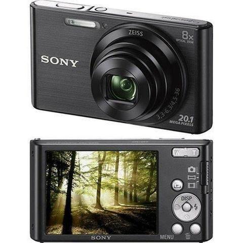 Câmera Digital Sony Cyber Shot Lcd De 2,7' 20.1mp Dsc-W830 Preto - Foto 3