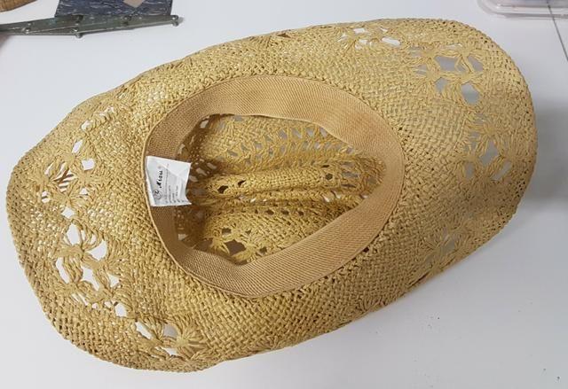 Chapéu tipo palha vazado estilo country feminino - Foto 3