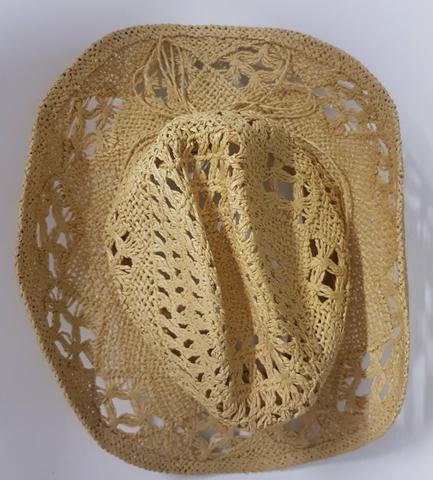 Chapéu tipo palha vazado estilo country feminino - Foto 2
