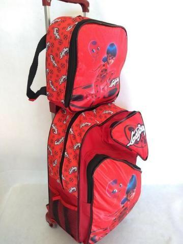 Mochila Infantil Ladybug + Lancheira Térmica - Bolsas 7c4ef6d542afd