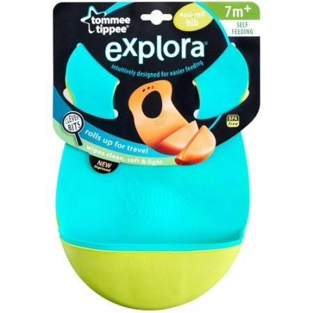Kit 2 Babadores Silicone Tommee Tippee - Verde/Azul