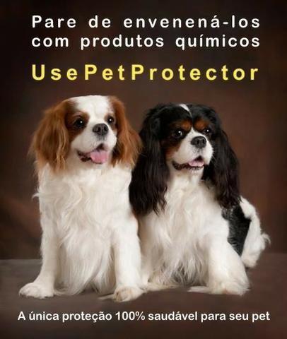 Pet Protector contra pulgas, carrapatos e mosquitos