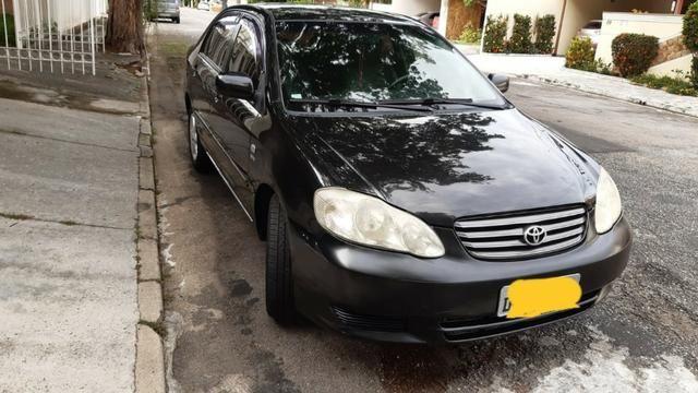 Corolla Preto 2004 1.8 mecanico XEI bancos de couro
