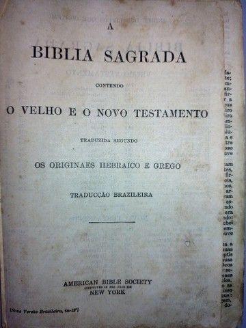 Bíblia Antiga e Rara