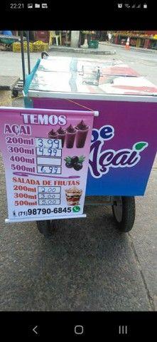 Vendo carrinho personalizado de açaí ,salada de frutas ,sorvetes!!