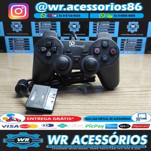 Controle para PS2 - Entrega Grátis - Foto 3