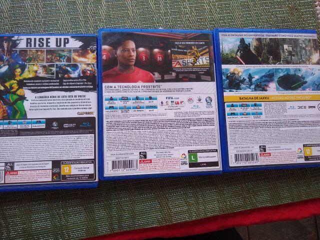 Jogos de PS4 novos Fifa star wars street fighter - Foto 3