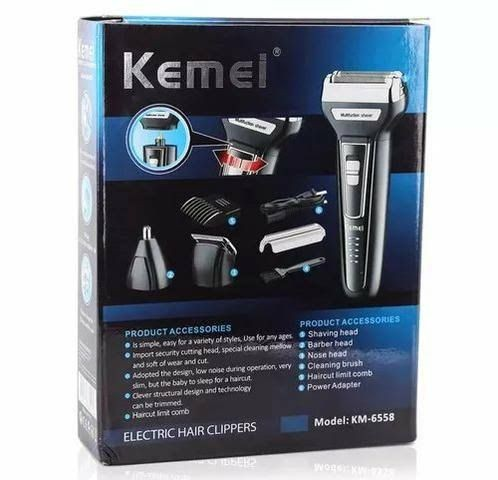 Maquina Kimei KM6558 3 x 1, barbeador, aparador e corte! Caraguatatuba. - Foto 6