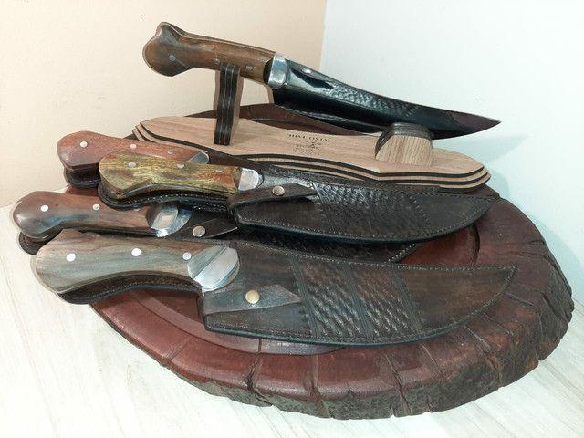 Facas para churrasco artesanal aço inox  - Foto 2