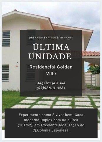 (**)Golden Ville Casa Duplex com 03 Dormitórios no Conjunto Colonia Japonesa(**)