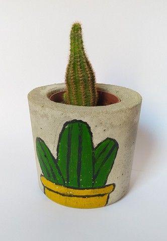 Vaso Artesanal de Concreto - Foto 5