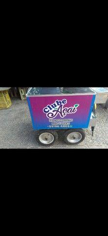 Vendo carrinho personalizado de açaí ,salada de frutas ,sorvetes!!  - Foto 3