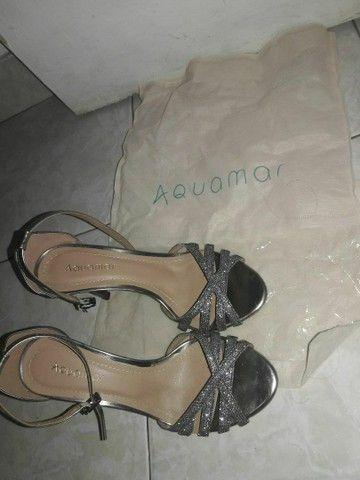 Sandalia Aquamar  prata 36/37 nova