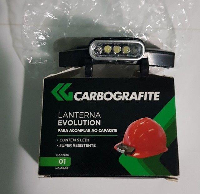 Lanterna Carbografite 5 leds já vem com as pilhas - Foto 6