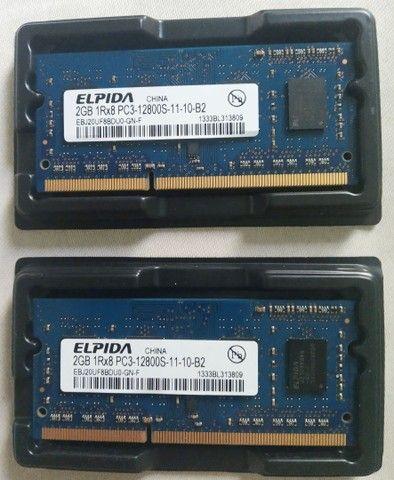 Memória RAM  2 x 2gigas Elpida
