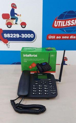 Kit Celular Rural Aquário Telefone + Cabo + Antena ? Entrega Gratis * - Foto 5