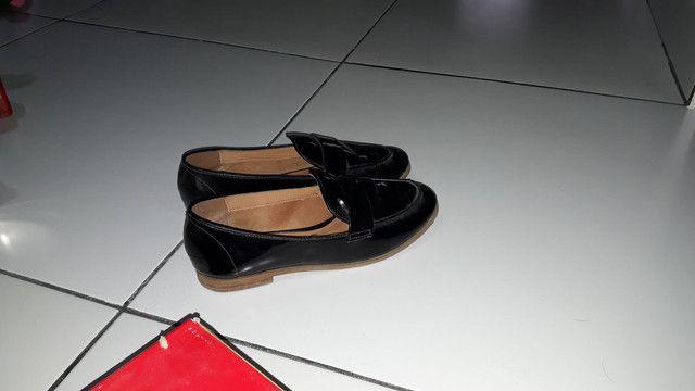 Sapato Verniz Cristal Brilho Preto - Foto 2