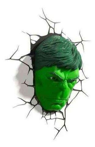 Mega Saldao Marvel - Luminária Rosto Do Hulk Promocao - Foto 2