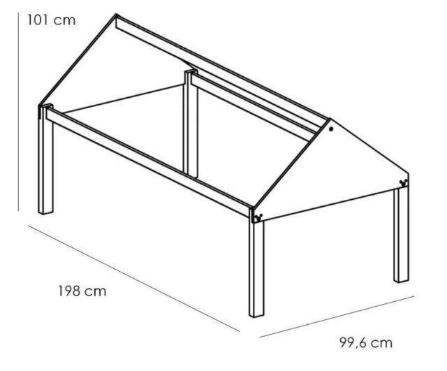 Beliche Infantil com Telhado/Escada/ Escorregador Casa Tema - Foto 5