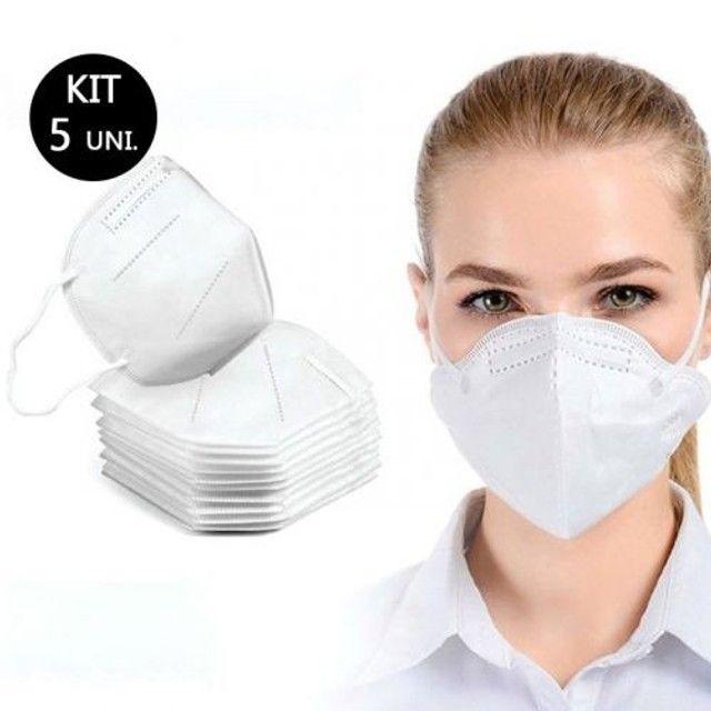 Máscara N95 Pff2 Cirúrgica Descartável única com 95% de eficácia 5 Unidades