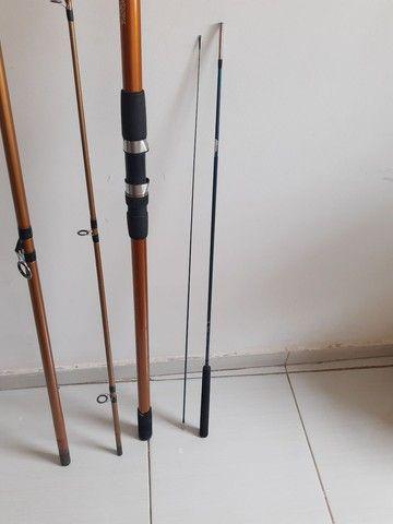 Vara de pescar pouco tempo de uso  - Foto 2
