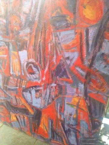 Quadro de Arte - 100 cm x 120 cm  - Foto 4