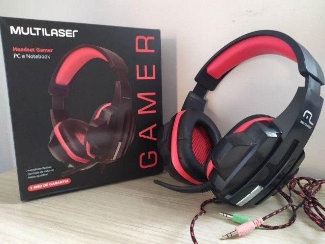 Headset Fone Pc Gamer P2 Stereo Multilaser Ph120