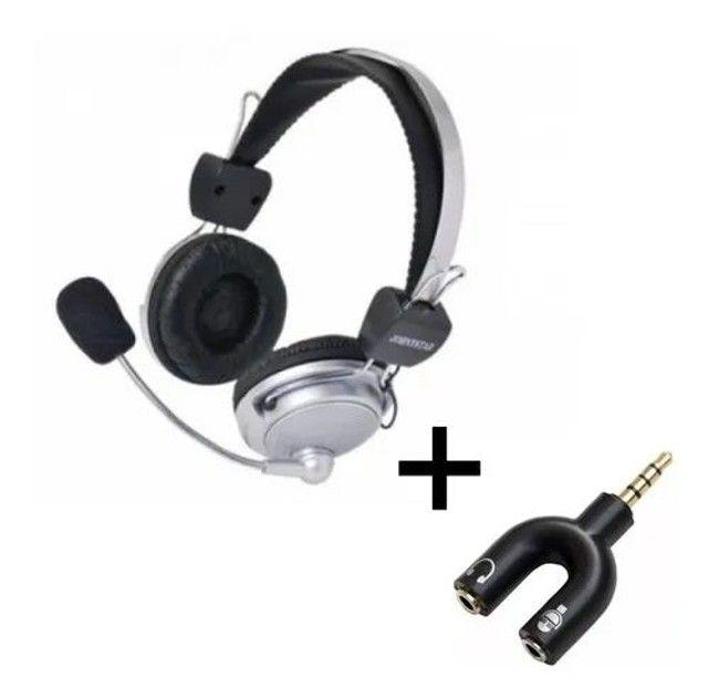 Fone De Ouvido Red Set Headphone Gamer + Adaptador P2<br><br>