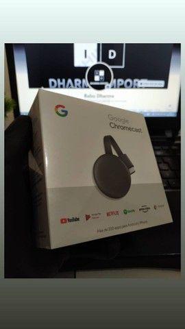 Chromecast geração 3 original e lacrado. - Foto 4