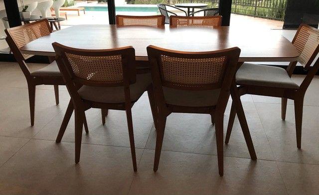 Mesa de jantar com 6 cadeiras Tok Stok - Foto 2