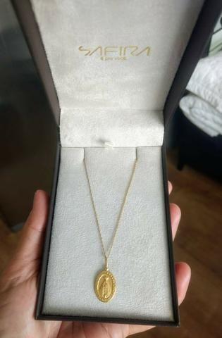 Gargantilha em ouro 18k com pingente também em ouro 18k - Foto 5