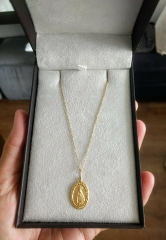 Gargantilha em ouro 18k com pingente também em ouro 18k - Foto 4