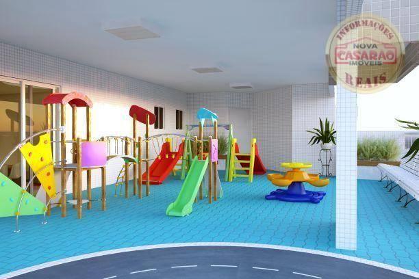 Apartamento com 2 dormitórios à venda, 72 m² por R$ 362.373 - Cidade Ocian - Praia Grande/ - Foto 12