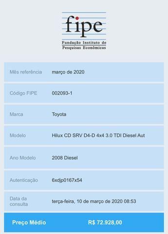Hilux 2008 Srv automática duvido igual - Foto 8