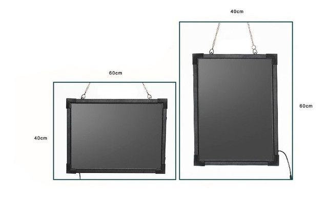 Lousa Quadro Painel De Led 40 X 60 Personalizável - Foto 6