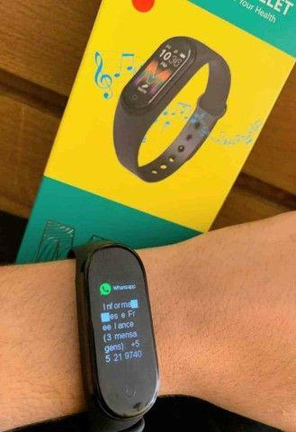 Smartband m5 monitoramento: calorias, pressão e batimentos  - Foto 5