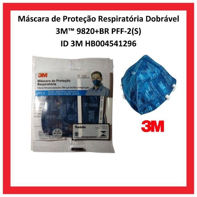 Máscara De Proteção Respiratória PFF2 3m 9820+BR - Foto 2