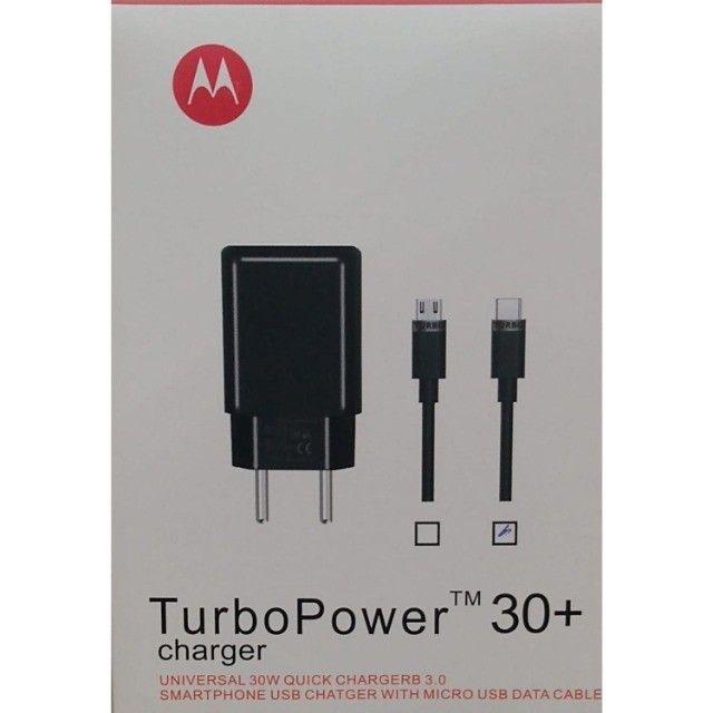 Carregador Turbo Power 30w + Usb Tipo V8/Tipo C  - Foto 2