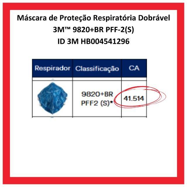 Máscara De Proteção Respiratória PFF2 3m 9820+BR - Foto 3