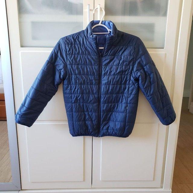 Jaqueta de Nylon infantil reversível tamanho 7-8