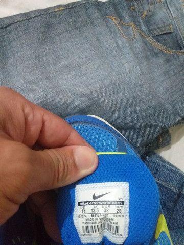 Calça jeans infantil + tênis  - Foto 5