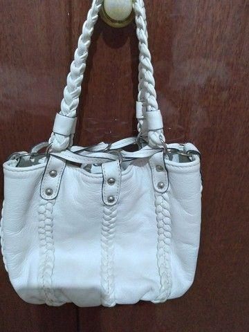 Bolsa em couro branca - Foto 2