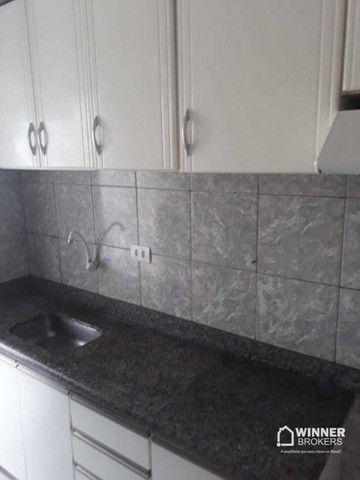 Apartamento com 3 dormitórios para alugar, 64 m² por R$ 900,00/mês - Zona 08 - Maringá/PR - Foto 3
