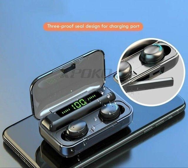 Fones de ouvido bluetooth 5.0 com caixinha carregadora LED - Foto 5
