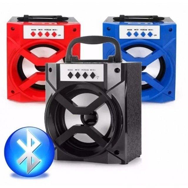 Caixa de Som Portátil sem Fio Bluetooth