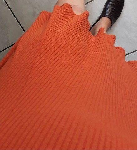 Vestido de malha canelada ,tam. M Dress to  - Foto 3